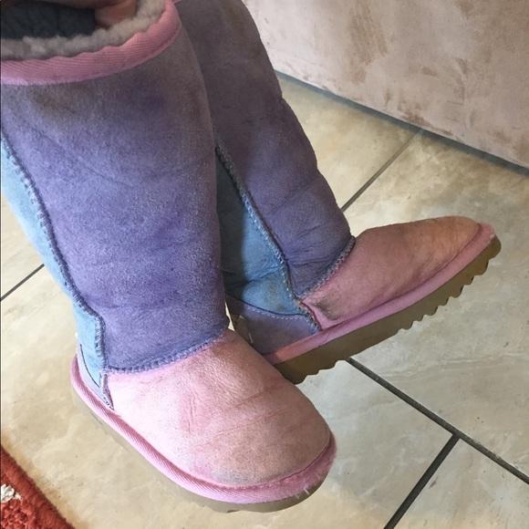 ugg shoes girls tall color block boots poshmark rh poshmark com